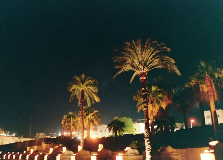Mars and the Sphinxes - by: Aymen Ibrahem (Canon 28mm, F2.8, 1 second exposure, Kodak Ultra 400)