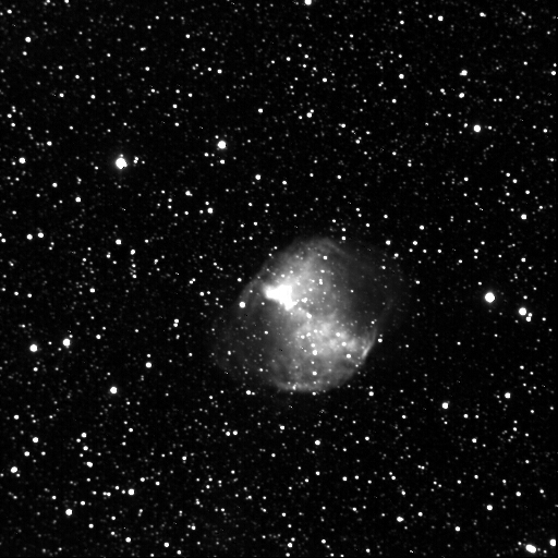 Dumbell Nebula by Jim Peterson - Image from New Mexico Sky's 14 inch SCT f11 with Apogee CCD.