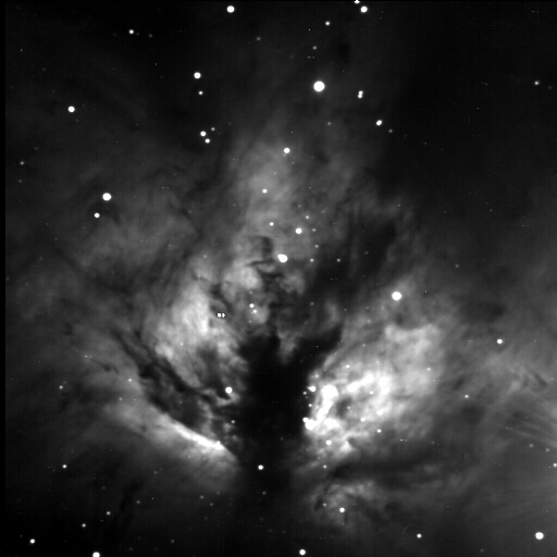 Flame Nebula by Jim Peterson - Image from New Mexico Sky's 14 inch SCT f11 with Apogee CCD