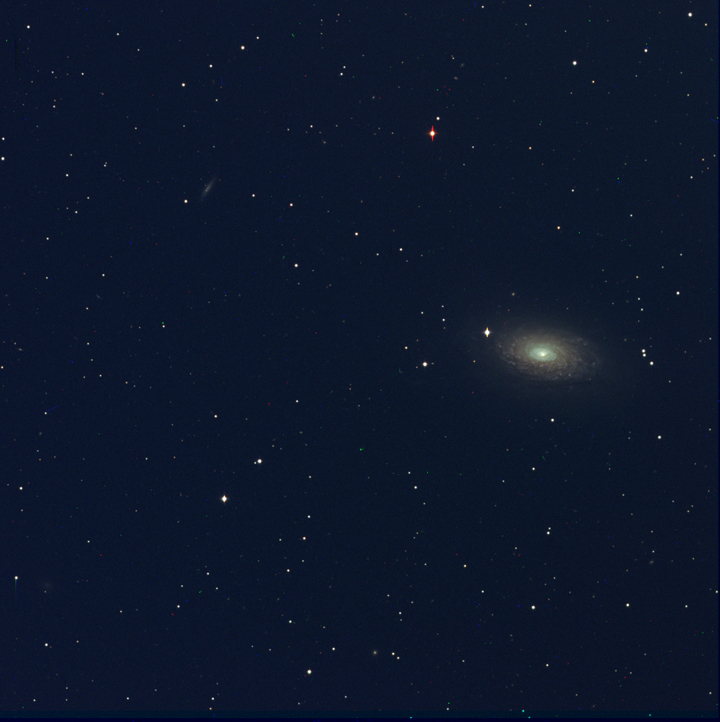 M63 Assembled from individual filtered images by Ricky Murphy. Images provided by Professor Pamela Gay for Astrophotography projects at SAO.