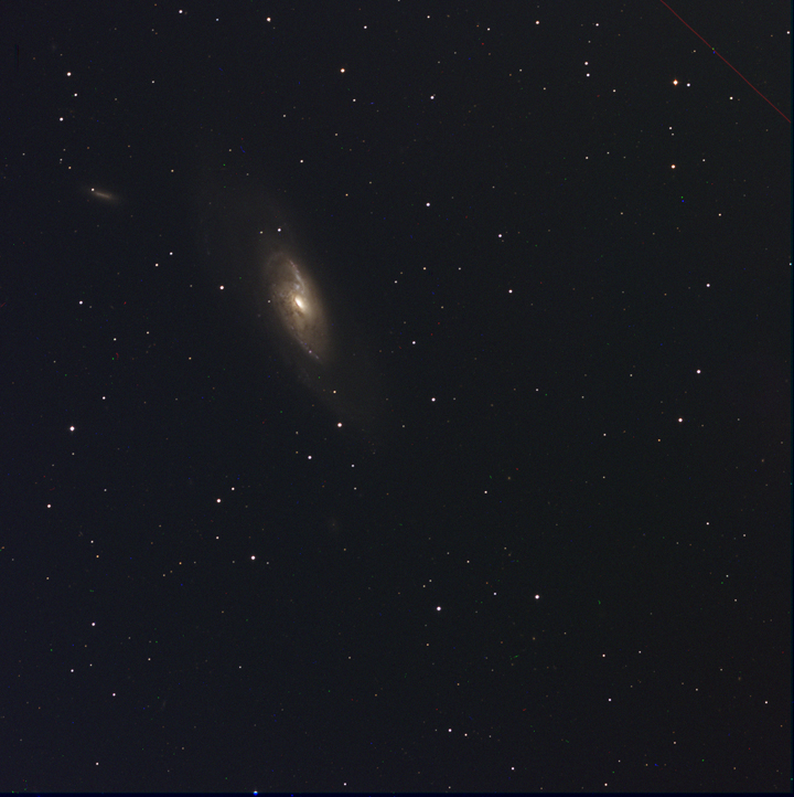 NGC 4258 Assembled from individual filtered images by Ricky Murphy. Images provided by Professor Pamela Gay for Astrophotography projects at SAO