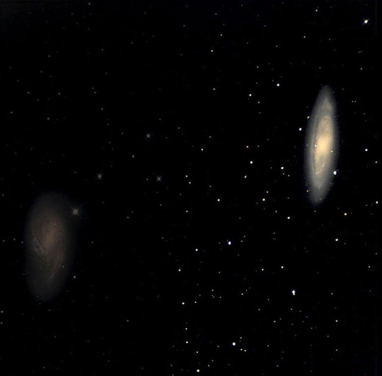 Spiral Galaxy M65 (on the right)