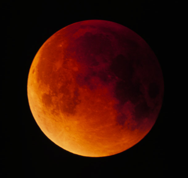 A Total Lunar Eclipse - The copper color is only seen during a total eclipse