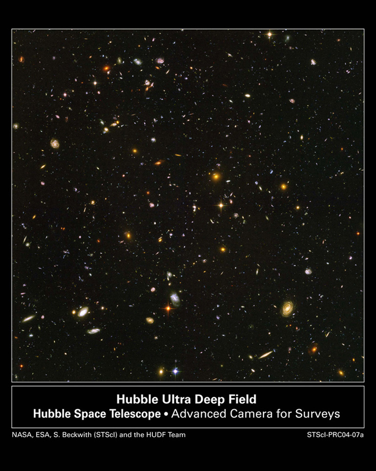 The Hubble Deep Field. All dots are galaxies!