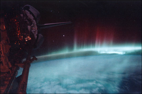Aurora Australialis from the Space Shuttle