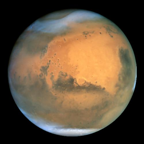 Mars as seen from the Hubble Space Telescope
