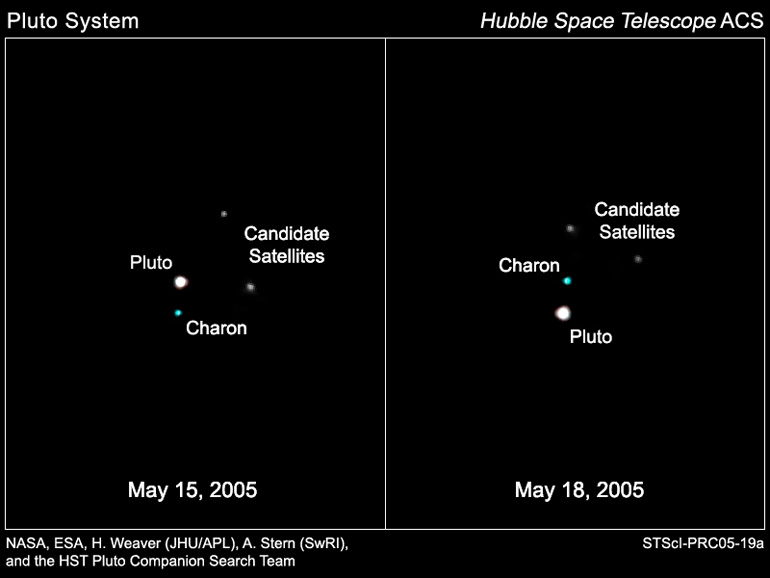 Two additional moons of Pluto - yet to be confirmed