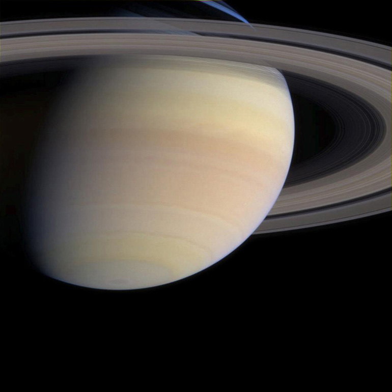 True color image from the Cassini orbiter